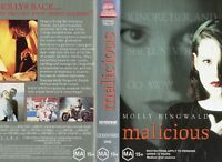 MALICIOUS - Molly Ringwald -VHS - PAL -NEW - Never played! - Original Oz release