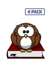 Owl Bird Book Wise Nature Character Wild Wisdom Sticker Vinyl Decal 1-439