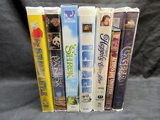 Collection Lot of 7 Classic Children's VHS Movies: Shrek, Casper