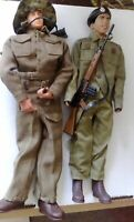 Unknown Figures x 2 WW2 12 Inch 1/6 in Dragon and Action man uniforms