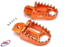 KTM 85 125 250 350 450 500 SX SXF EXC XC 1998-2016 AS3 RACING WIDE FAT FOOT PEGS