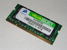 1GB DDR2 533MHZ PC2-4200S MEMORY RAM CORSAIR VALUESELECT VS1GSDS533D2 MOBILE