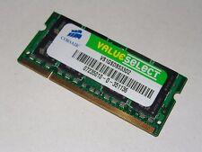 1GB DDR2 533MHZ PC2-4200S MEMORY RAM CORSAIR VALUESELECT VS1GSDS533D2 MOBILE