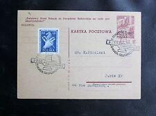 TIMBRES DE POLOGNE : TOURNOI D'ECHECS A VARSOVIE - CACHET SPECIAL DU 9. 2. 1956