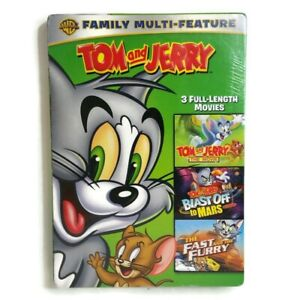 3 Tom and Jerry movies, new DVD 3-disc set Movie, Blast Off Mars, Fast and Furry