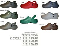 Womens Nursing Medical Clogs Garden Shoes Assorted Colors Size  5 6 7 8 9 10 11