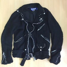 COMME DES GARCONS JUNYA WATANABE MAN 2007 STUDDED BOILED WOOL MOTOCYCLE JKT M