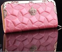 New Women Soft Leather Clutch Wallet Long PU Card Purse Handbag