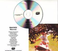 WAVVES Wavvves 2009 UK 14-track promo test CD Bella Union