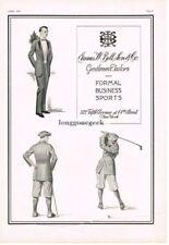 1923 James W. Bell & Son Men's Tailors Formal Sports Golf Vtg Fashion Print Ad