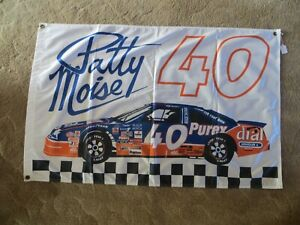 Patty Noise #40 Purex Dial NASCAR 1995 Banner Flag New