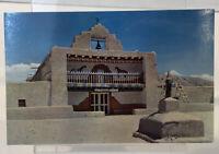 Vintage Postcard Santo Domingo Church New Mexico Unposted