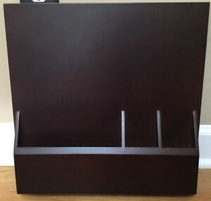 """NEW Pottery Barn Teen Style Tile 2.0 Binder Caddy 16x16"""" ESPRESSO BROWN"""