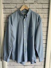 Marks & Spencer blue non-iron shirt size L/XL-see description