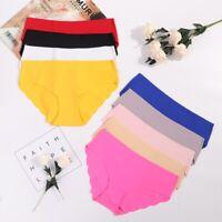 2 Pack Women Soft Panties Seamless Lingerie Briefs Hipster Underwear Underpants