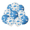 12 PACK Mixed White & Blue Sky Clouds Balloons Print Baby Shower Party Decor