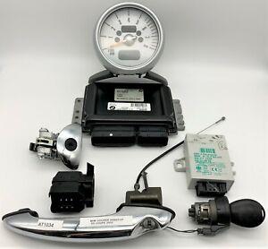 OEM 02-06 Mini Cooper ECM ECU Engine Computer Module Tachometer Ignition Key Set