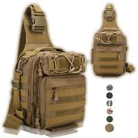 Fishing Tackle Backpack Storage Waterproof Outdoor Camping Cross Body Sling Bag