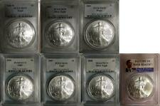 2003 2004 2006 2007 2008 2008-W 2009  SILVER EAGLE PCGS MS70 7 COIN SET
