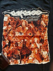 CARCASS TOUR SHIRT SYMPHONIES OF SICKNESS EXHUMED TO CONSUME NAPALM DEATH GRIND