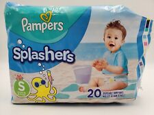 Pampers Splashers Disposable Swim Pants Size Small 20 Count