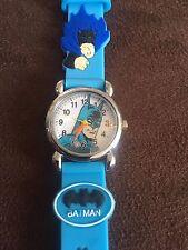BATMAN bambini ragazzi ragazze polso orologio analogico cinturino in silicone bat man sky blue slim