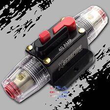 Marine Grade Gold Inline 12 Volt 40 Amp Power Circuit Breaker manual reset Audio