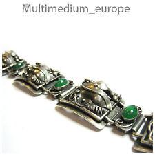 Jugendstil Silber Armband Chrysopras e art nouveau silver bracelet um 1910 rar e