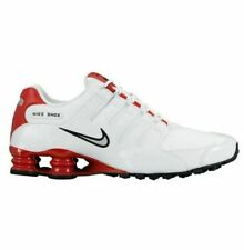 Nike Shox NZ Mens Athletic Shoes Size 10 White Metallic Silver Red 378341 110