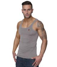 Abbiglimento sportivo da uomo grigi senza maniche Taglia XS