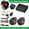 UNIVERSAL CAR SECURITY ALARM SYSTEM REMOTE CENTRAL LOCKING IMMOBILISER 12V
