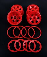 Red Super Star Wheel with Beadlock Ring and Screws for 1/5 RC HPI Baja 5B