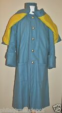 Cavalry Great Coat - Enlisted - w/Yellow Under Cape - Sizes 52-60 - Civil War