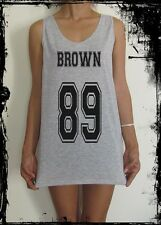 Chris Brown 89 Number Quote Football Vest Tank Top Singlet T-Shirt  Tumblr