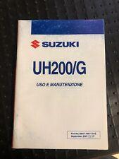 Manuale uso manutenzione Suzuki UH200 G