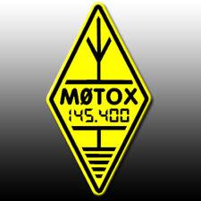 Indicativo di chiamata & FREQ adesivo Diamond Logo Riflettente Giallo & Nero Radio amatoriale