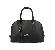 Coach Cross Grain Leather Mini Sierra Satchel Crossbody Bag Purse F57555 Black
