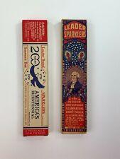 Lot Leader Sparklers Easy Lite & Bicentennial Fireworks Usa George Washington