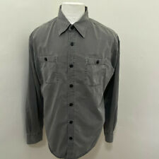 CONVERSE ONE STAR MEN'S GRAY DISTRESSED COTTON LONG SLEEVE SHIRT SIZE L  C07-25