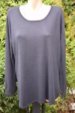 Sussan India Ink Navy Top Size L Stylish Rounded Hem Long Sleeve