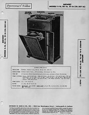 1947 MIDWEST S-16 CONSOLE RADIO SERVICE MANUAL PHOTOFACT SCHEMATIC SG-16 ST-16