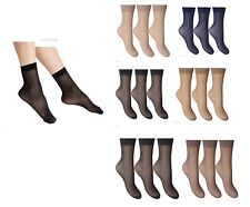 3 pairs Ladies Soft Sheer Ankle High Socks Trouser Pop Socks Anklets Socks