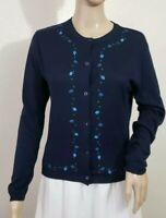 Talbots Petites 100% Silk Button Front Cardigan Sweater Women's Size 8 P *EUC*
