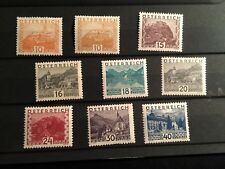 Austria stamps 1929 Castles of Austria/Turism 9 stamps set mix MNH/MH Nice Offer