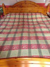 Vintage bedspread double/King THROW WOVEN BLANKET VW CAMPER VAN TAPESTRY