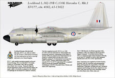 Lockheed C.130K Hercules C.Mk.1 - First for RAF, 1966 A4 Profile Print & Decal