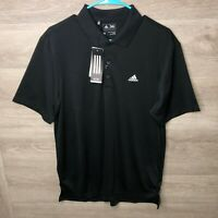 Adidas Mens Medium Golf Performance Polo Black NEW
