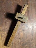 Vintage Stanley Sweatheart No. 65 Marking Gauge Brass Inlay