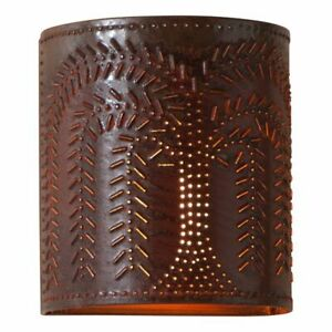 Willow Sconce Light in Rustic Tin
