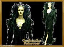 BLACK ELEGANT PAGEANT  Feather DRAG QUEEN jacket GOWN